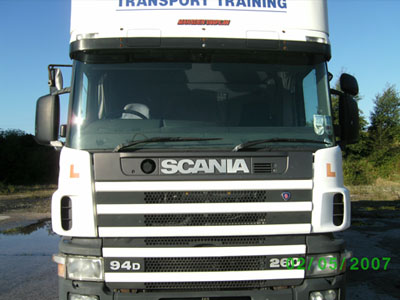 hgv driver training lorry
